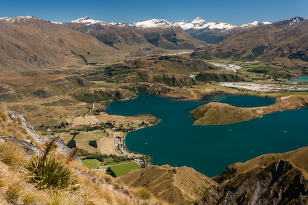lake Wanaka in Mount Aspiring National Park photo
