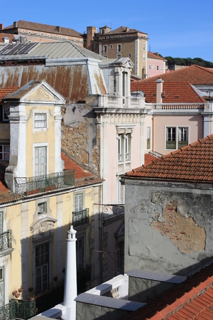 shantytown: detail of street in Lisbon