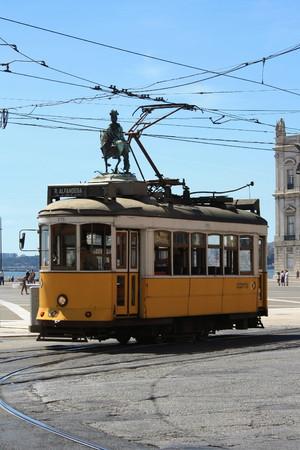 vintage tramway in Lisbon, Portugal