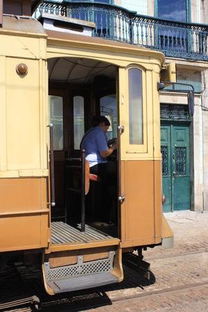historic streetcar in Porto