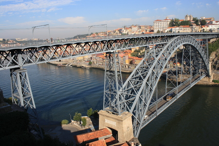 oporto: Dom Luis Bridge in Oporto Stock Photo