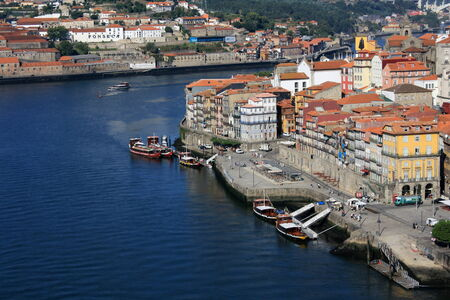 oporto: Ribeira waterfront in Oporto