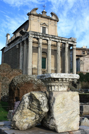 Temple of Antoninus and Faustina in Rome photo