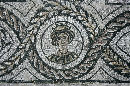 detail of mosaic in Ostia Antica - Rome