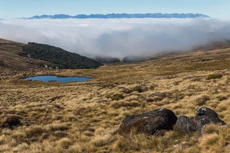 inversion: inversion in Fiordland, New Zealand
