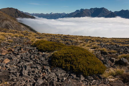 inversion: inversion in Fiordland National Park, New Zealand Stock Photo