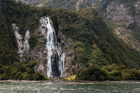 Lady Bowen Falls in Milford Sound photo