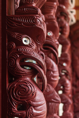 maori: Maori carving Stock Photo