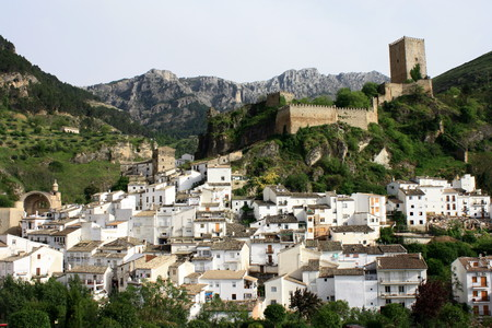 panoramic view of old Cazorla, Spain