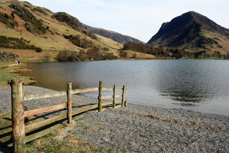 lake district: Buttermere Lake in Lake District Editorial