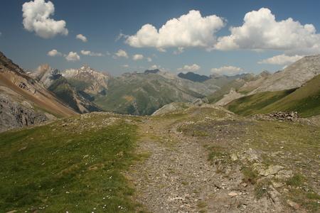 pyrenean: mountain ridges in Ordesa y Monte Perdido National Park