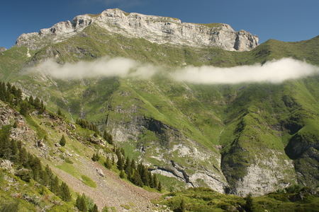 inversion: inversion in French Pyrenees Stock Photo