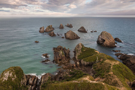Nugget Point at Catlins coast, New Zealand photo