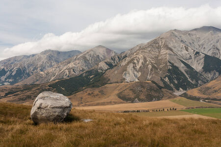 ranges: Castle Hill, New Zealand Stock Photo
