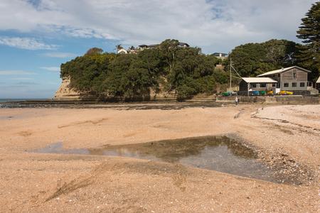 long bay: sandy beach at Long Bay, New Zealand Editorial