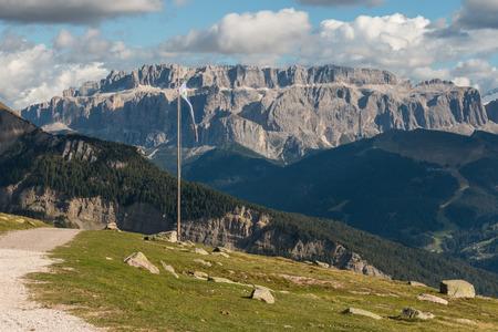 sella: Sella Group massif in Dolomites