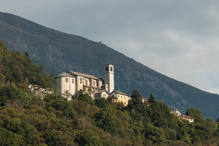 sant agata: view of church in Sant Agata in Piedmont, Italy