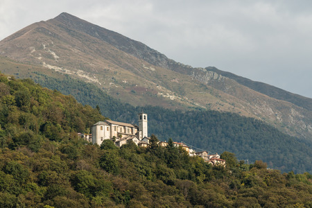 sant agata: Sant Agata village above Cannobio Stock Photo