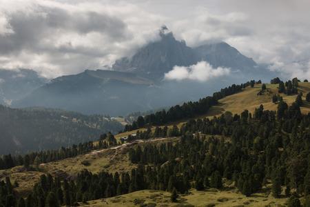 gardena: alpine peaks above Val Gardena in Dolomites