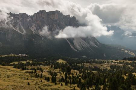 inversion: cloud inversion above Val Gardena in South Tyrol