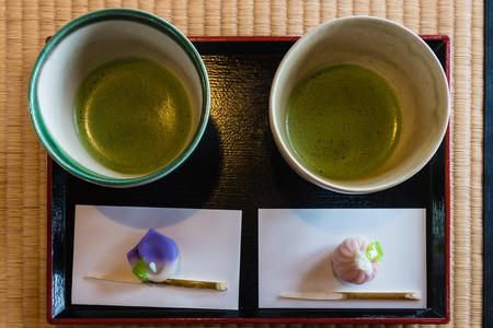 maccha: matcha tea served at Japanese tea ceremony