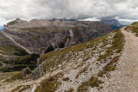 gardena: walking track above Val Gardena, Dolomites Stock Photo