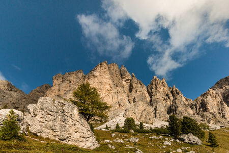craggy: craggy peaks in Dolomites, South Tyrol