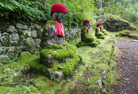 abyss: Jizo statues in Kanmangafuchi abyss Stock Photo