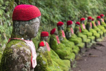jizo: Jizo statues in Nikko Stock Photo