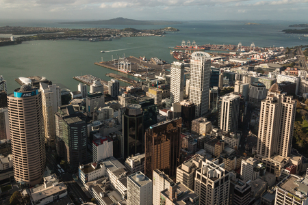highrises: aerial view of Auckland town centre Editorial