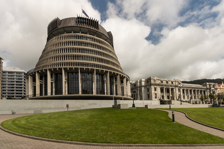 New Zealand Parliament buildings, Wellington Stock Photo