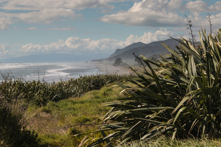 unspoilt: West Coast of South Island in New Zealand Stock Photo