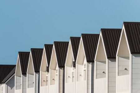 prefab: new terraced houses with copy space Stock Photo