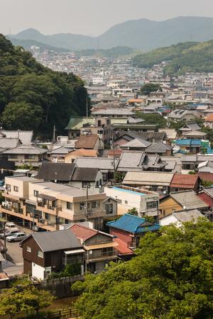 suburb: aerial view of suburb in Kobe, Japan