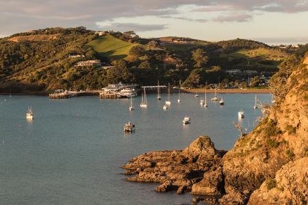 Matiatia Bay on Waiheke Island in New Zealand