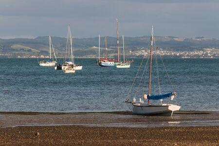 moored: moored fishing boats