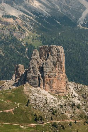 torri: Cinque Torri peaks in Dolomites