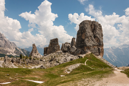 torri: Cinque Torri group in Eastern Dolomites