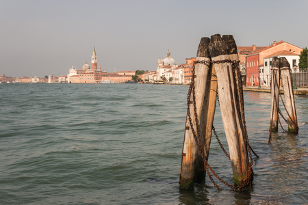 mooring: mooring post in Grand Canal in Venice