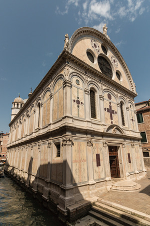 miracoli: Santa Maria dei Miracoli church in Venice Stock Photo