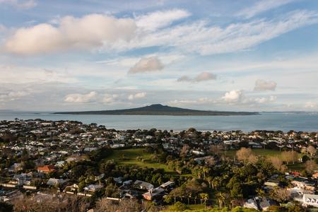 suburb: aerial view of Devonport suburb, Auckland