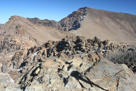 シエラネバダ山脈のムラセン山サミット 写真素材