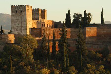 granada: Alcazaba fortress in Alhambra, Granada, Spain