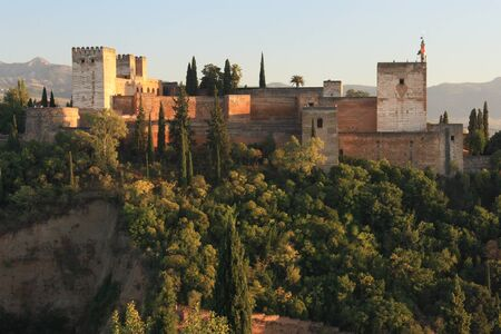 the  alhambra: Alhambra palace in Granada Editorial