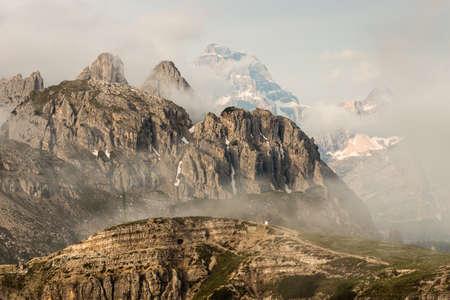 inversion: cloud inversion over Dolomites peaks