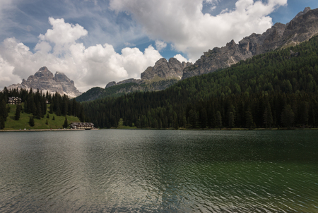 lake misurina: lake Misurina in Dolomites Stock Photo