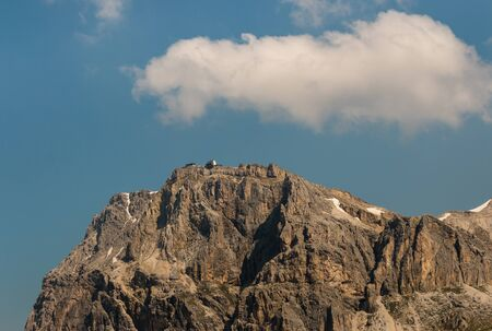 craggy: rock wall in Dolomites