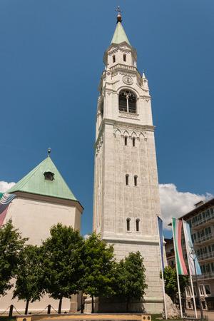 belfry: belfry of basilica in Cortina dAmpezzo