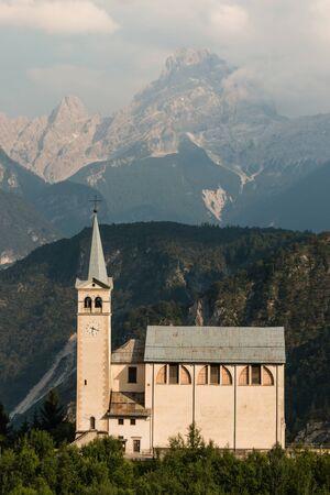 di: church in Venas di Cadore, Dolomites
