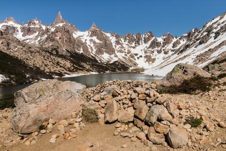 nahuel: laguna Toncek in Nahuel Huapi National Park, Argentina Stock Photo
